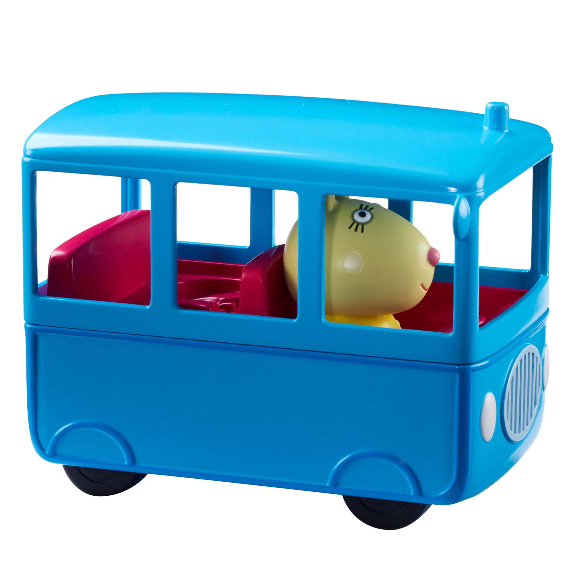 New Peppa Pig School Bus Playset w// Miss Rabbit Vehicle Official
