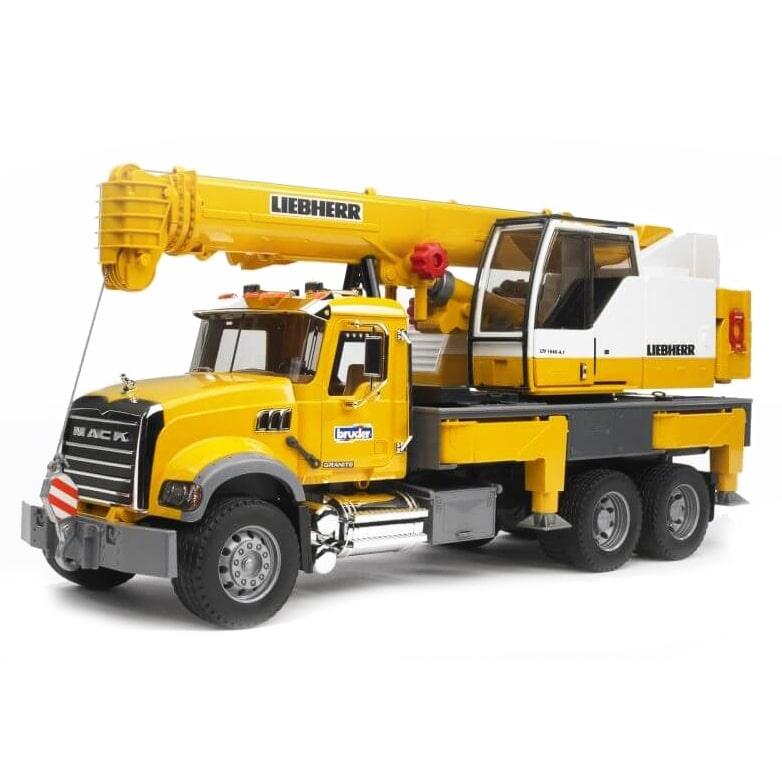 Bruder 1/16 MACK Granite Liebherr Crane Truck