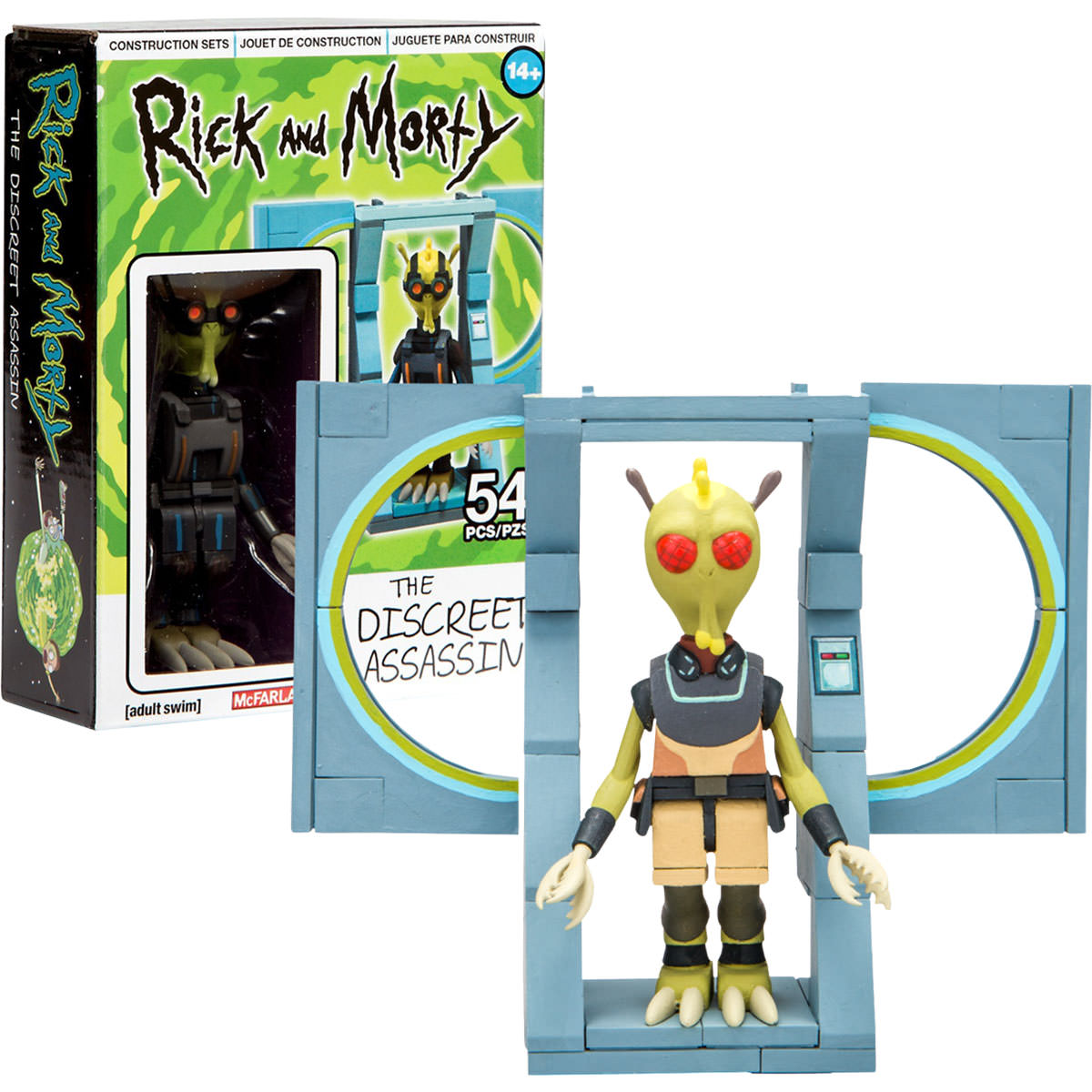 Rick and Morty The Discreet Assassin McFarlane Toys 54 Pcs New in Box
