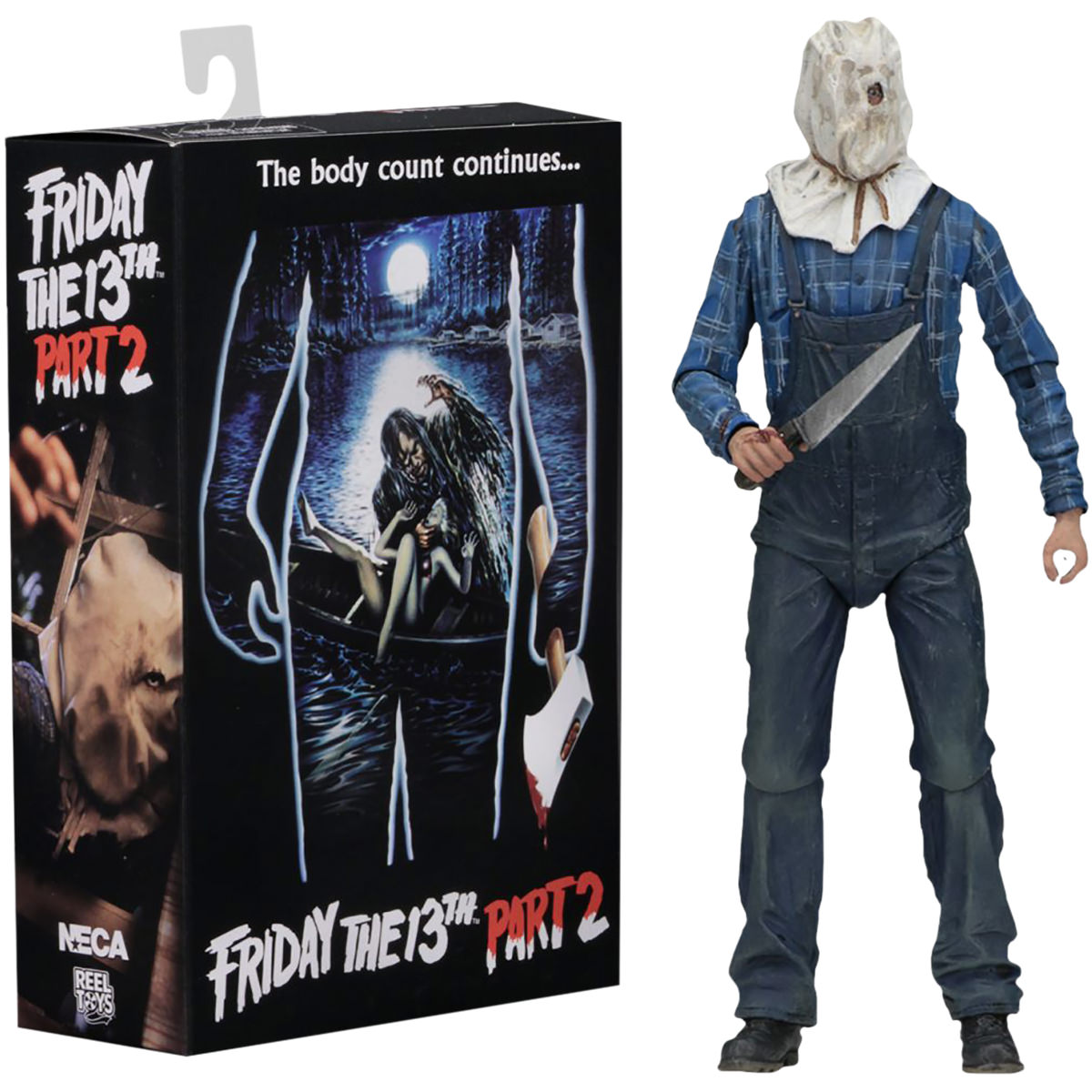 """Neca Ultimate Part 2 Jason 7"""" Scale Action Figure Friday The 13Th"""