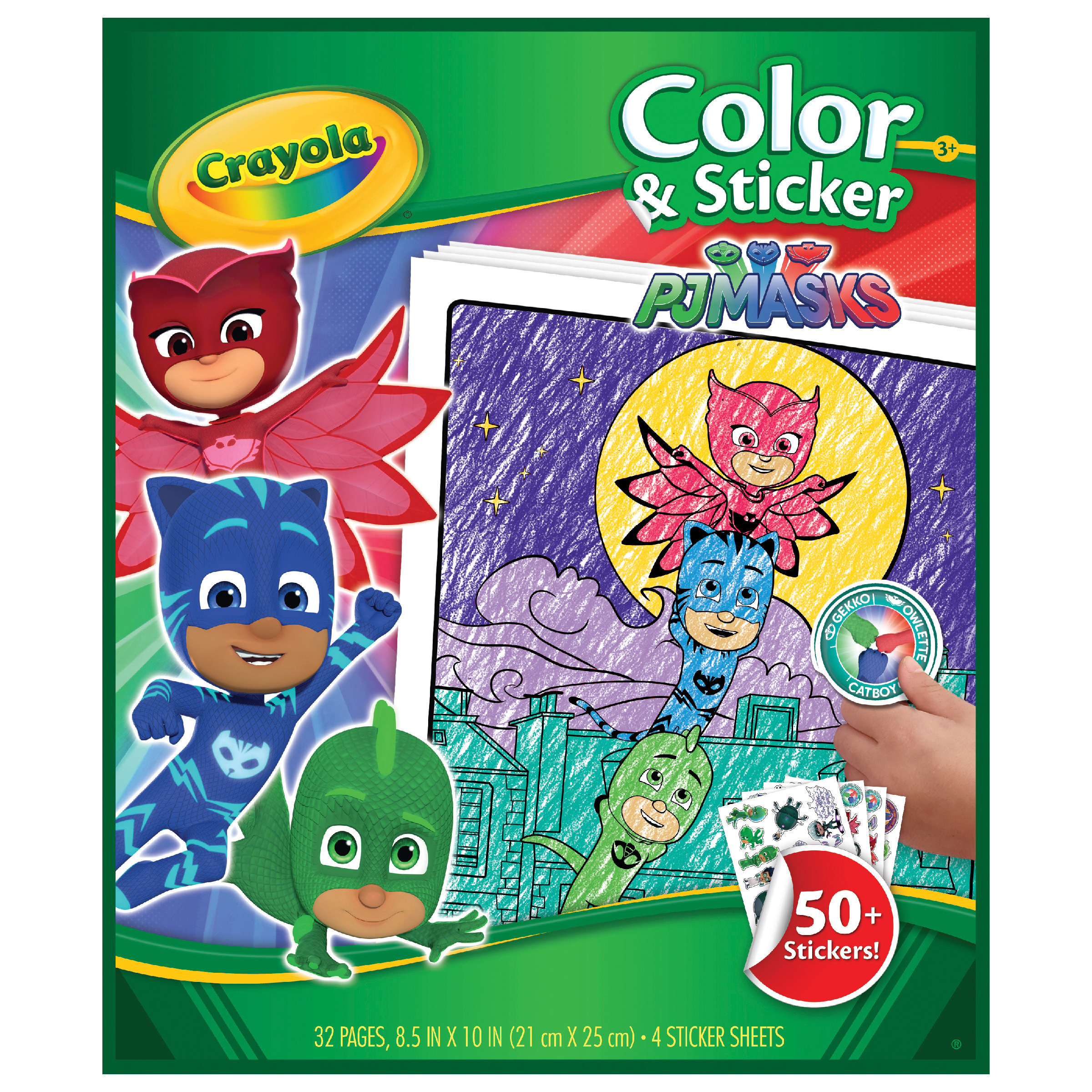 Crayola Pj Masks Color And Sticker Book Over 50 Stickers At Toys R Us