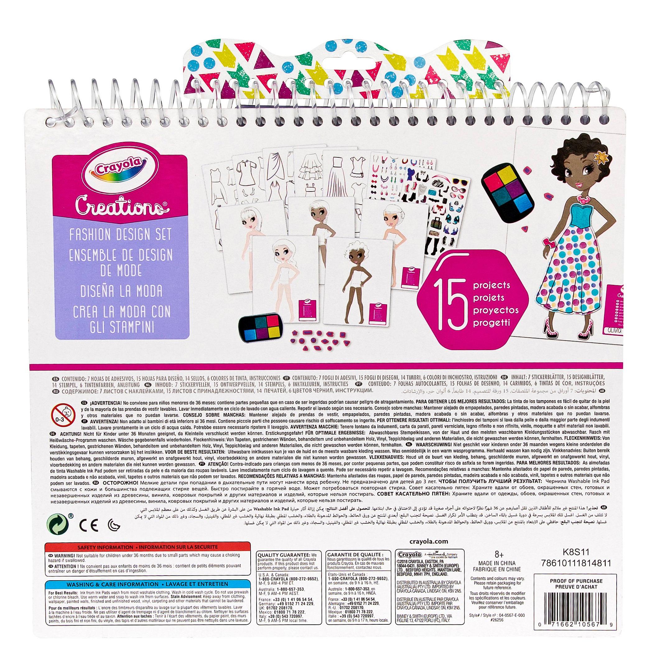 Crayola Creations Fashion Design Set At Toys R Us