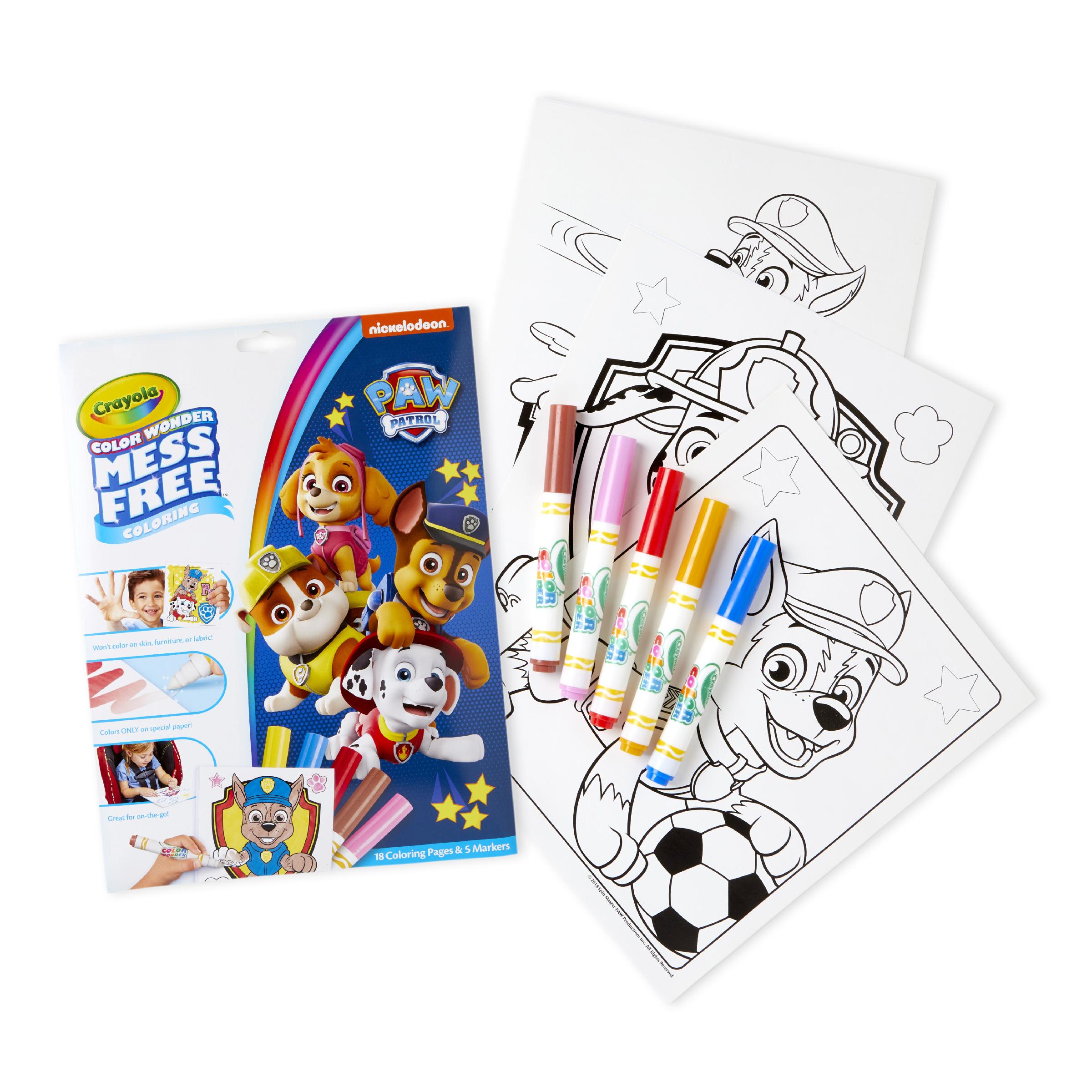 Crayola Color Wonder Paw Patrol with Markers and Colouring Sheets