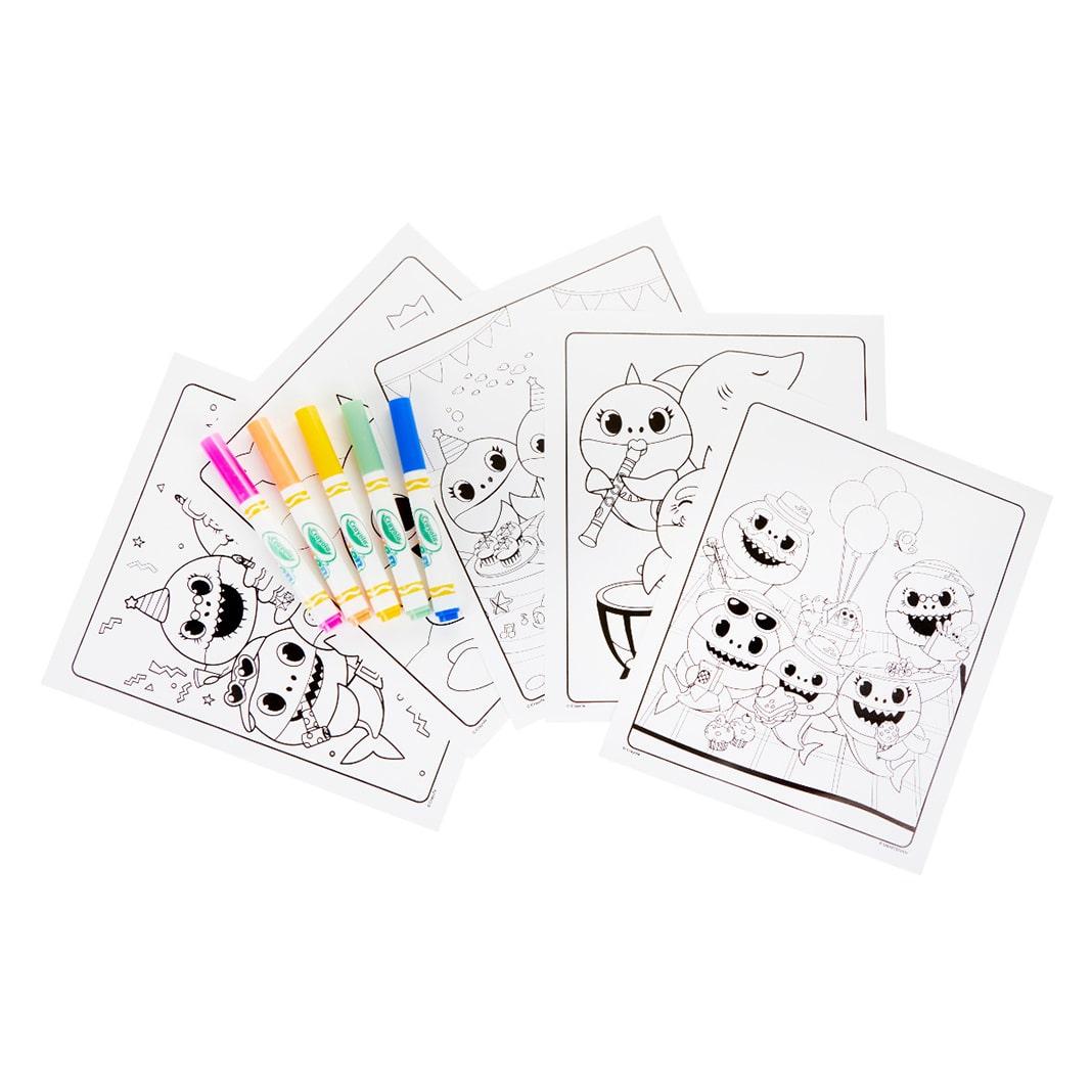 Crayola Colour Wonder Mess Free Baby Shark Coloring Set At Toys R Us