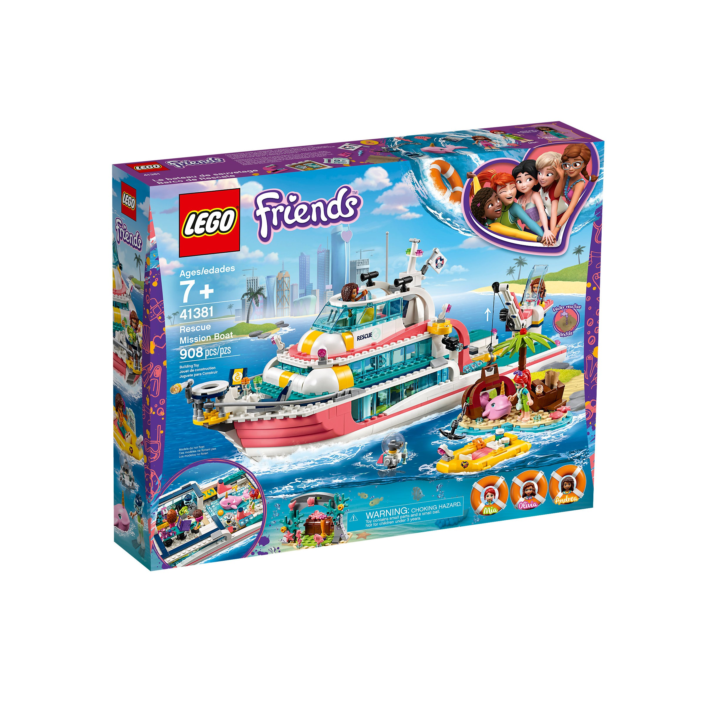 LEGO 41381 Friends Rescue Mission Boat at Toys R Us