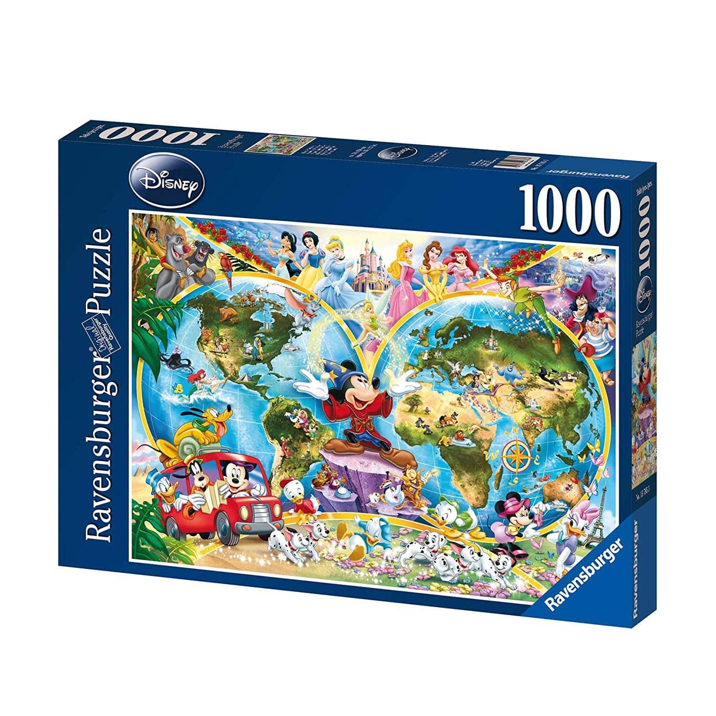 Ravensburger Disney\'s World Map 1000pc Puzzle