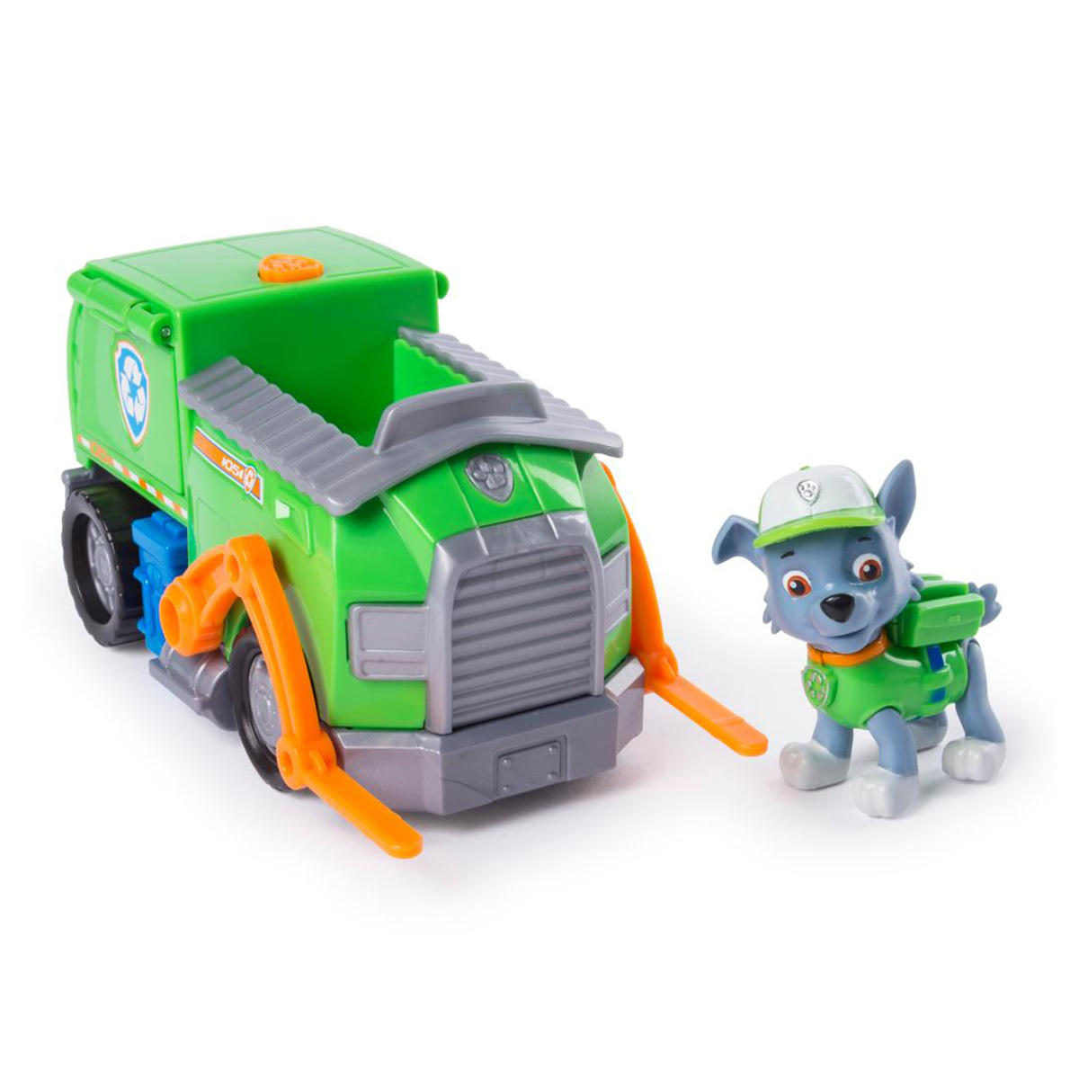 paw patrol  rocky's transforming recycle truck at toys r us