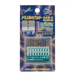 GodHand GH-DB-8D 2.1-2.9mm Pin Vise Drill Bit Set