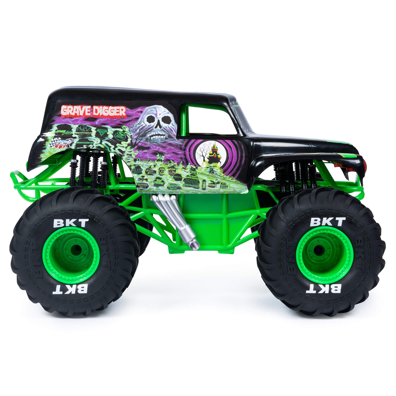 Monster Jam Rc 1 10 Grave Digger 2 4ghz Remote Control Truck At Toys R Us