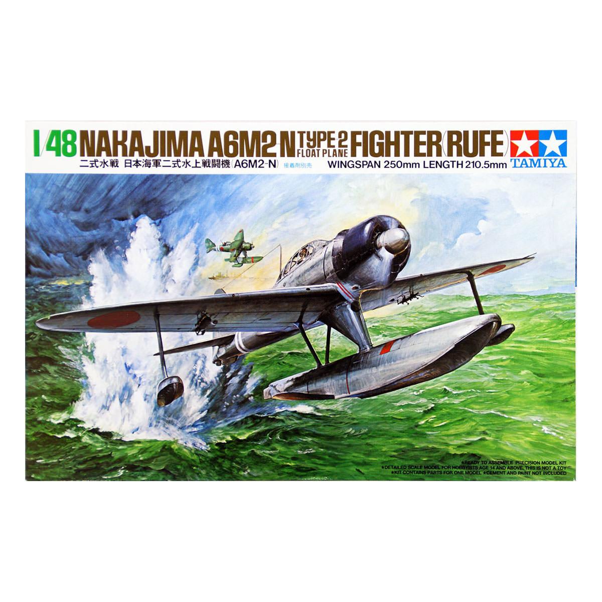 Tamiya 61017 1/48 Nakajima A6M2-N Type 2 Floatplane Fighter (Rufe) Model Kit