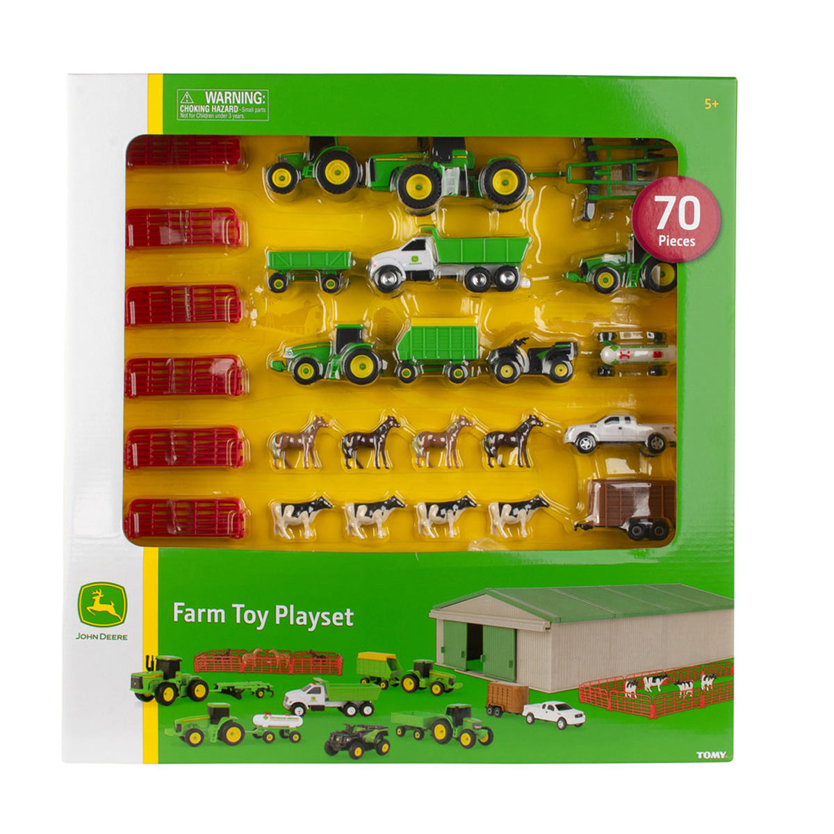 Tomy Ertl John Deere Farm Toy Value Playset With 70 Pieces At Toys R Us